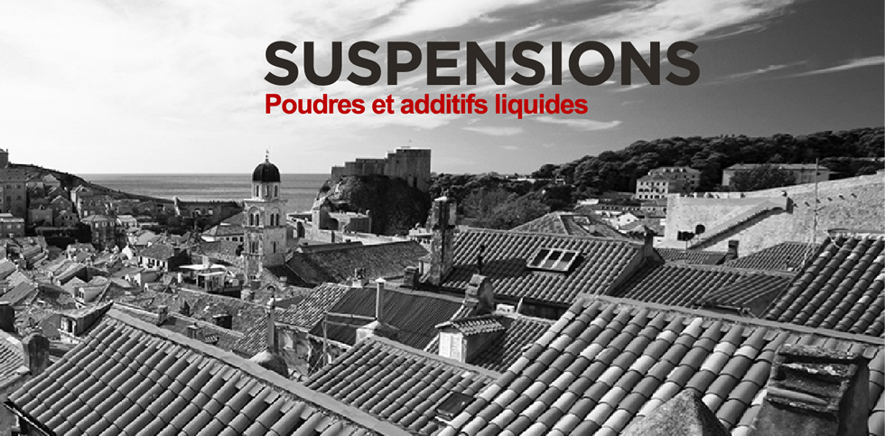 suspensions powders and liquid additives